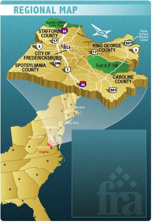Fredericksburg Regional Map